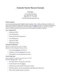 Sample Resume Graduate Teachers Resumes Teacher Sle Find Your Best Samples