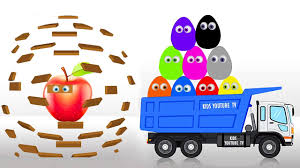 100 Youtube Trucks For Kids Surprise Eggs Learn Colors With Children Learn Fruits