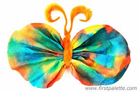 Orange Coffee Filter Butterfly