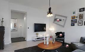 modern minimalist living room and hallway lighting design