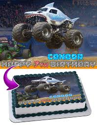 Megalodon Monster Jam Edible Image Cake Topper Personalized Birthday ... Monster Truck Cupcake Toppers Wrappers Etsy Blaze And The Machines Edible Image Cake Topper Amazoncom Monster Toppers Party Krown 24 Jam Rings Cupcake Toppers Cake Birthday Party Favors Truck Mudslinger Boys Birthday Party Cupcake Wrappers And Easy Cakes Ideas Classic Style Decoration Little Birthday Personalised Icing Gravedigger Byrdie Girl Custom
