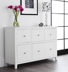 Brooklyn White Dresser with 6 deep drawers white chest of