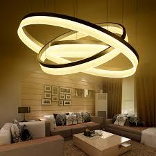 HSHIXINMAO Modern 1 2 3 Rings LED Living Room Dining Chandelier Ring