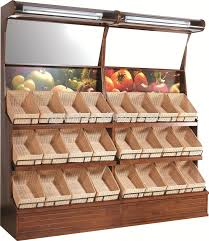 3 Tier Wooden Fruit And Vegetable Wall Display Rack
