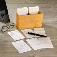 levenger mini nantucket desk nantucket note card box w calendar cards levenger