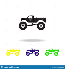 100 Monster Truck App S Multicolored Icons S Element Icon Baby