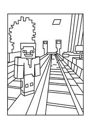 Download Coloring Pages Of Minecraft Best Rails Free Printable