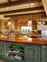 1 tuscan farmhouse bronze gold glass kitchen island light fixture