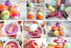 DIY Marbled Easter Eggs Using Nail Polish