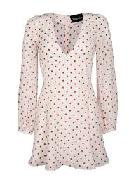 kaia gerber wears realisation polka dot dress popsugar fashion