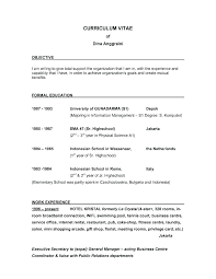 Sample Of Objectives For Resume Samples Objective In Examples Resumes Good Career Object