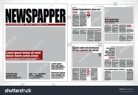 Graphical Design Newspaper Template