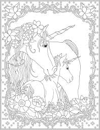 Welcome To Dover Publications Creative Haven Unicorns Coloring Book Free Printable PagesAdult