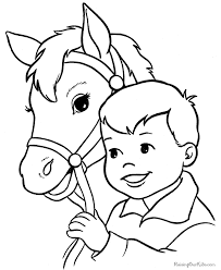 Stylish And Peaceful Horse Pictures To Color Coloring Pages