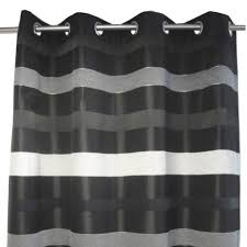 rideau tamisant edimbourg noir l 140 x h 270 cm leroy merlin