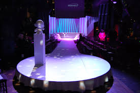 The Set For Kidrobot Fashion Show Featured An All White Runway