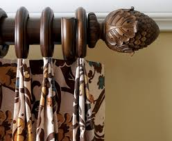 Kirsch Decorative Wood Drapery Hardware Poles Curtain Rods