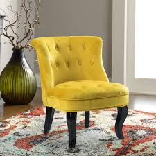 Yellow Upholstered Chair | Jane Tufted Velvet Armless Accent Chair With  Black Birch Wood Legs - Sunrise Yellow Bright Ideas Big Lots Desk Chair Office Accent Chair Dark Brown Fabric Fancy Accent Chairs Your House Idea Iorpheuscom Fniture Stylish And A Half With Ottoman Design Yellow Upholstered Jane Tufted Velvet Armless With Black Birch Wood Legs Sunrise Parsons Youll Love In 2019 Wayfair Bernhardt Rigby 360sl Swivel Dunk Chair Grey Uk Good Heritage Coaster Seating W Padded Seat Charming Wetripinfo