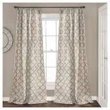 Geo Shower Panels by Geo Trellis Window Curtain Panel Pair Gray 84