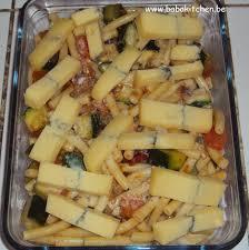 gratin de pâtes aux légumes et morbier baba s kitchen