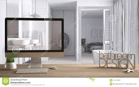 100 Interior Design Words Architect Er Project Concept Wooden Table With Keys 3D
