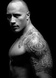 Nice The Rock Half Sleeve Hawaii Tattoo