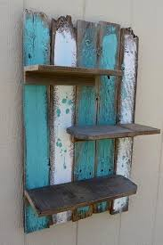 Simple Rustic Pallet Wall Shelf Pallet Ideas Recycled Wall Art