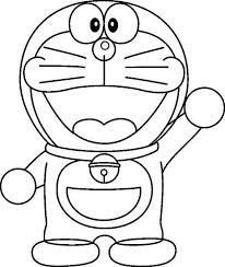 Say Hi To Doraemon Coloring Pages