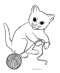 Beautiful Kitten Coloring Pages Printable 24 For Kids With