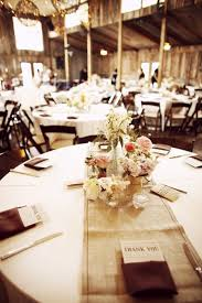Rustic Reception Round Table Runner Collection Of Centerpieces