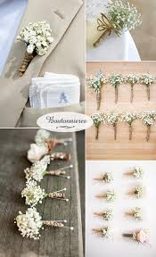 Babys Breath Boutonnieres For Rustic Wedding Ideas