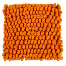 Modern Orange Decorative Throw Pillows