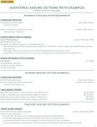 Additional Resume Sections With Examples Career Center North Dakota State University