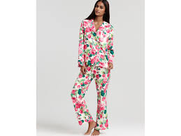 betsey johnson flannel pajama set in pink lyst