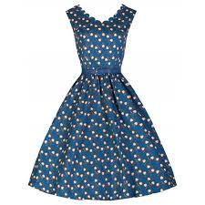 Daria Curiously Cute Heart Locket Print 50s Swing Dress