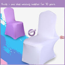 #19876 Factory Direct Wholesale White Disposable Wedding Lycra Spandex No  Shiny Chair Covers, View Wedding Chair Covers For 1.00, Kaiqi Product ... Whosale Price Spandex Chair Band With Heartshaped Plastic Buckle Lycra For Wedding Chair Cover Sashes Party Decor Chairs Market Explore Plastic Office Fniture Wooden In Cheap Price Tkeer 4 Pcs Removable Washable Stretchy Ding Room Covers Protective Slipcovers Hotel Kitchen Restaurant Home 1piece White Universal Stretch Polyester Spandex Ft Rectangular Table Gold Tuxtail Accent Sculptware Purchase Rent Royal Lounge Purple Folding Paper Red Banquet