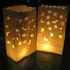 Moons And Stars Diy Wedding Paper Craft Lantern Yellow