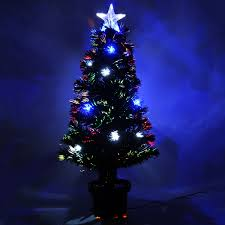 3ft Christmas Tree Asda by 3ft Pre Lit Colour Fibre Optic Christmas Tree 20 Slow Flash Led