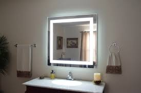 lights lighted makeup mirror wall mount battery operated chrome