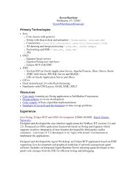 Sample Resume For Software Engineer With 2 Years Experience Download Fresh Core Java Developer New