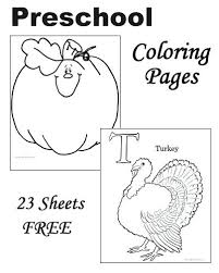 Preschool Thanksgiving Coloring Pages Free Printable Halloween For Toddlers