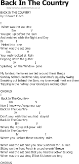Country Song Lyrics With Chords - Back In The Country Best 25 Figure It Out Lyrics Ideas On Pinterest Abstract Lines Little Jimmy Dickens Out Behind The Barn Youtube Allens Archive Of Early And Old Country Music January 2014 Bruce Springsteen Bootlegs The Ties That Bind Jems 1979 More Mas Que Nada Merle Haggard Joni Mitchell Fear A Female Genius Ringer 9 To 5 Our 62017 Season Barn Theatre Sugarland Wedding Wisconsin Tiffany Kevin Are Married 1346 May Bird Of Paradise Fly Up Your Nose Lyrics Their First Dance Initials Date Scout Books Very Ientional Lyric Book Accidentals