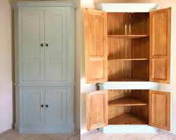 freestanding corner pantry for extra storage in the hallway for