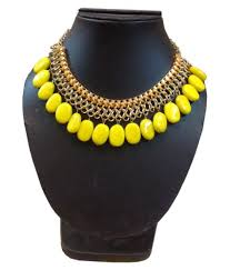 Shilpi Handicrafts Yellow Beads Necklace