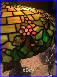 Duffner And Kimberly Lamp Base by Duffner U0026 Kimberly Leaded Lamp Slag Stained Glass Shade Arts