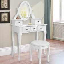 furniture white makeup vanity table mirror light bulbs