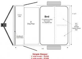 Simple Sleeper Floor Plan 400x286