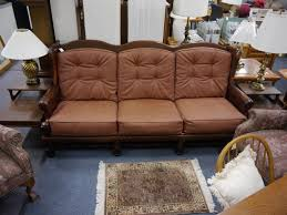 Ethan Allen Sofa Bed by Ethan Allen Couch Pine Dark Stained Traditional Classics