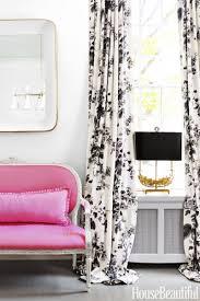 Dining Room Curtains In Schumachers Pine Hollyhock Print