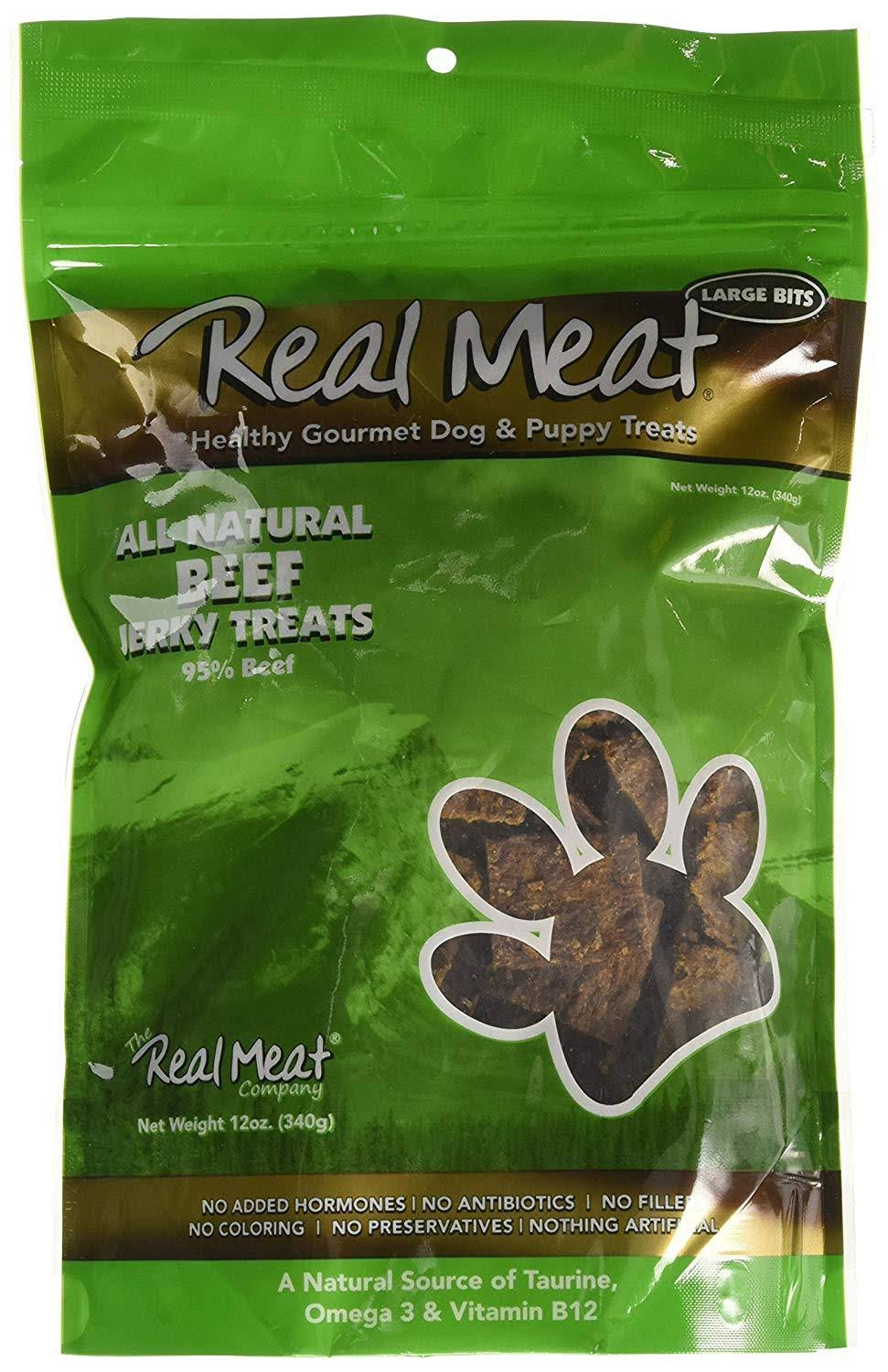 Real Meat Dog Treats - Beef Jerky, 12oz